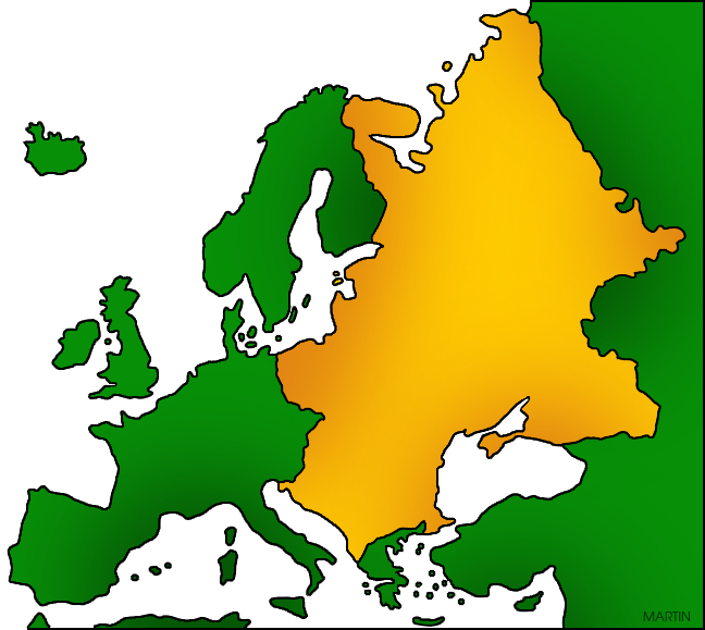 Free Europe Clip Art by Phillip Martin, Eastern Europe Map