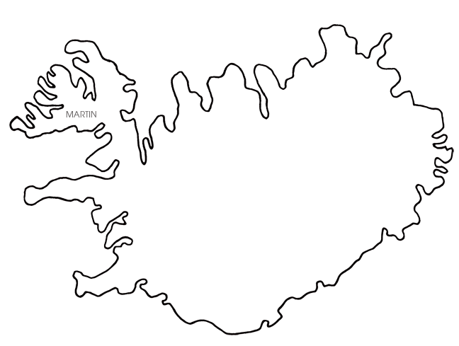 Iceland Map Blank