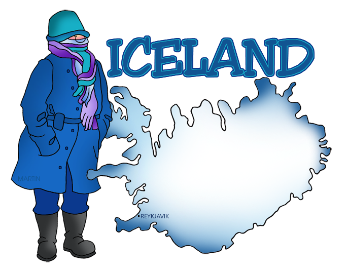 Iceland Map Named